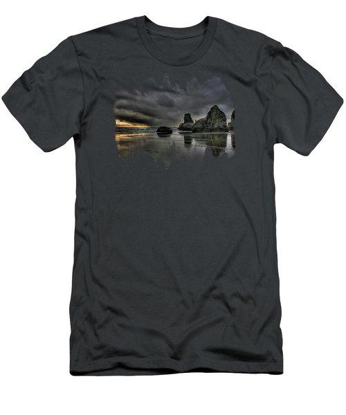 Bandon Beach Storm Men's T-Shirt (Slim Fit) by Thom Zehrfeld