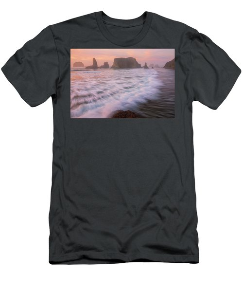 Men's T-Shirt (Athletic Fit) featuring the photograph Bandon's Sunset Rush by Darren White
