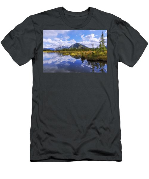 Men's T-Shirt (Slim Fit) featuring the photograph Banff Reflection by Chad Dutson