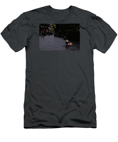 Bangkok Floating Market Men's T-Shirt (Slim Fit) by Travel Pics