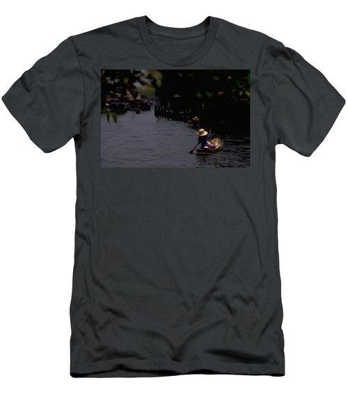 Bangkok Floating Market Men's T-Shirt (Athletic Fit)