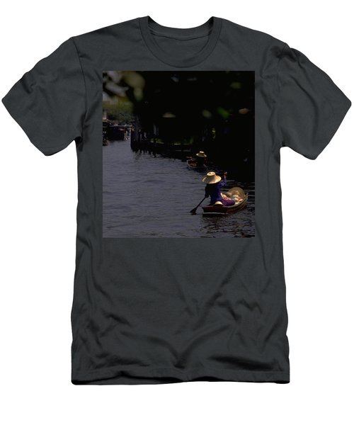 Bangkok Floating Market Men's T-Shirt (Athletic Fit)