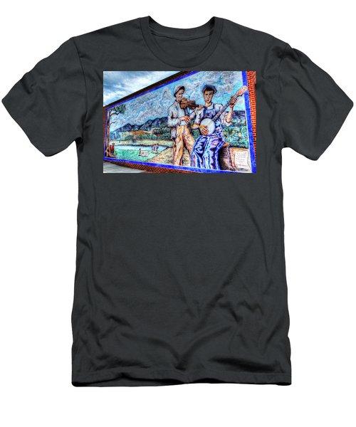 Banjo Mural Men's T-Shirt (Athletic Fit)