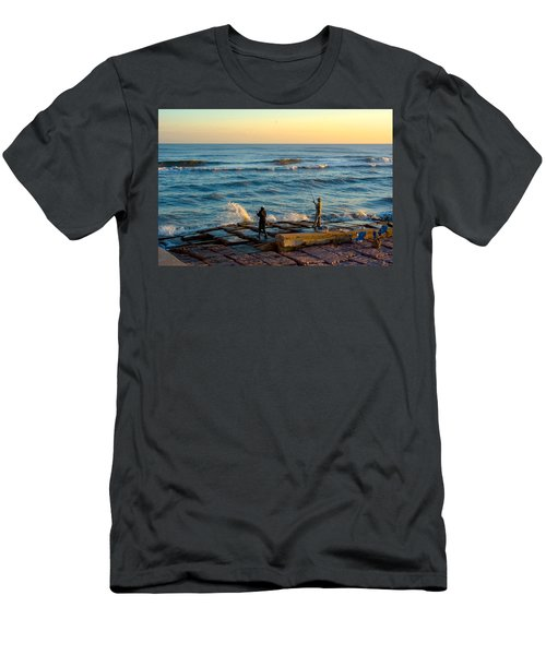 Bank Fishing Men's T-Shirt (Athletic Fit)