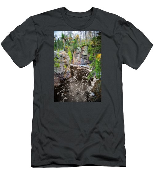 Baptism River In Tettegouche State Park Mn Men's T-Shirt (Athletic Fit)