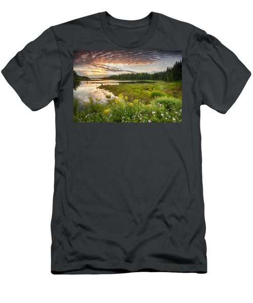 Bar Harbor Maine Sunset One Men's T-Shirt (Athletic Fit)