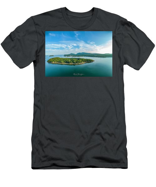 Bar Island, Bar Harbor  Men's T-Shirt (Athletic Fit)