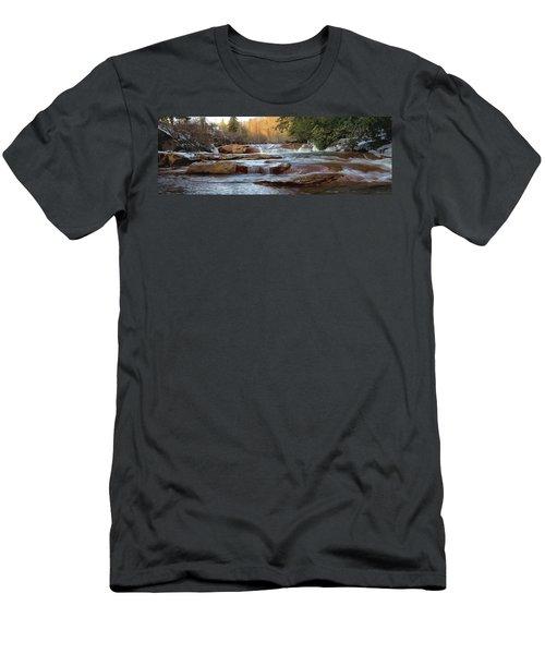 Barbershop Falls Wv In Winter Men's T-Shirt (Athletic Fit)