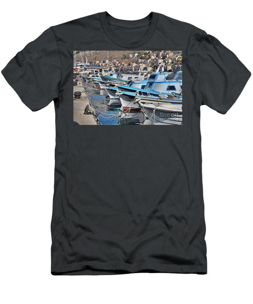 Harbour Of Simi Men's T-Shirt (Slim Fit) by Wilhelm Hufnagl