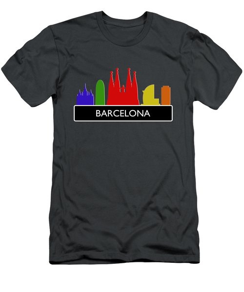 Barcelona Skyline Men's T-Shirt (Athletic Fit)