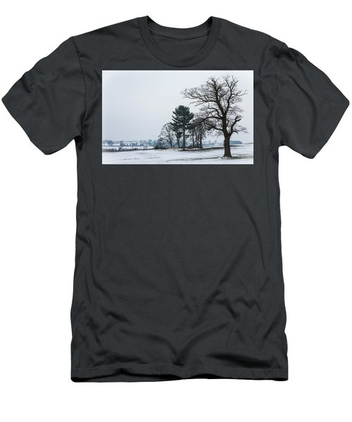 Bare Trees In The Snow Men's T-Shirt (Athletic Fit)