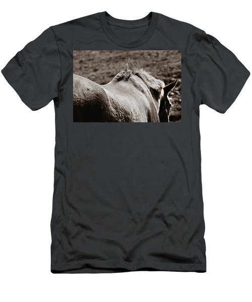 Men's T-Shirt (Slim Fit) featuring the photograph Bareback by Angela Rath
