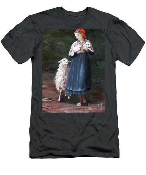 Barefoot Shepherdess Men's T-Shirt (Athletic Fit)