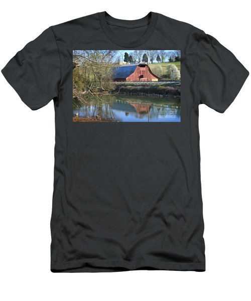 Barn And Reflections Men's T-Shirt (Athletic Fit)