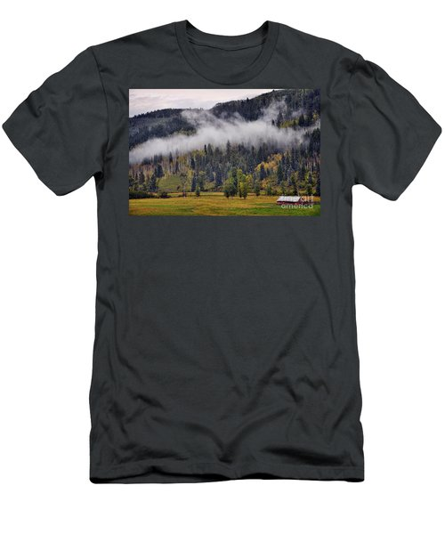 Barn In The Mist Men's T-Shirt (Athletic Fit)