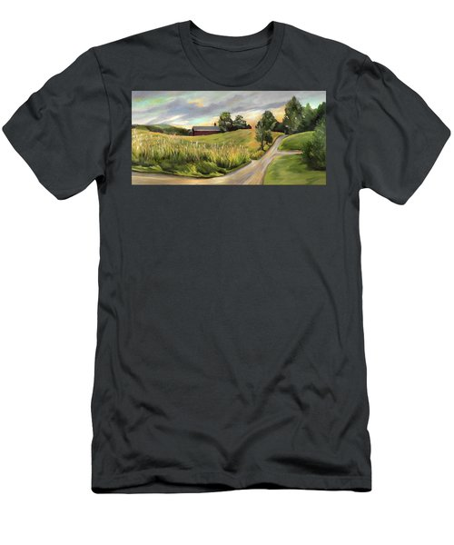 Barn On The Ridge In West Newbury Vermont Men's T-Shirt (Athletic Fit)