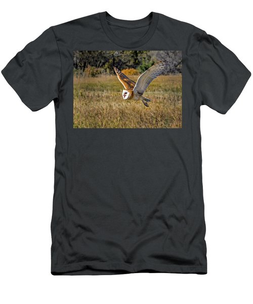 Barn Owl Flight 6 Men's T-Shirt (Athletic Fit)