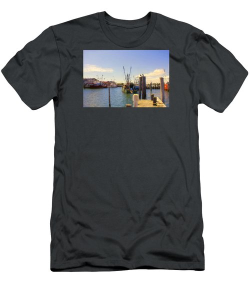 Men's T-Shirt (Slim Fit) featuring the photograph Barnegat Light Fishing Fleet by John Rivera