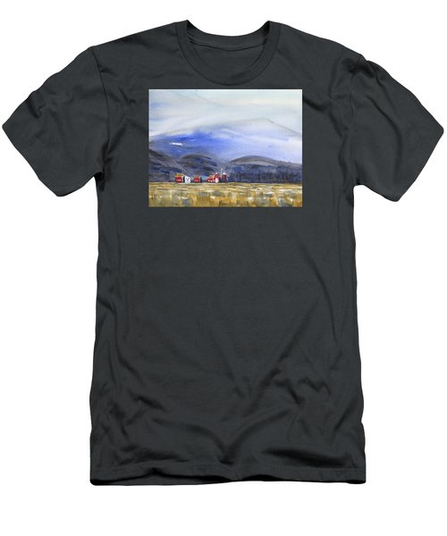 Barns In The Valley Men's T-Shirt (Slim Fit) by Frank Bright