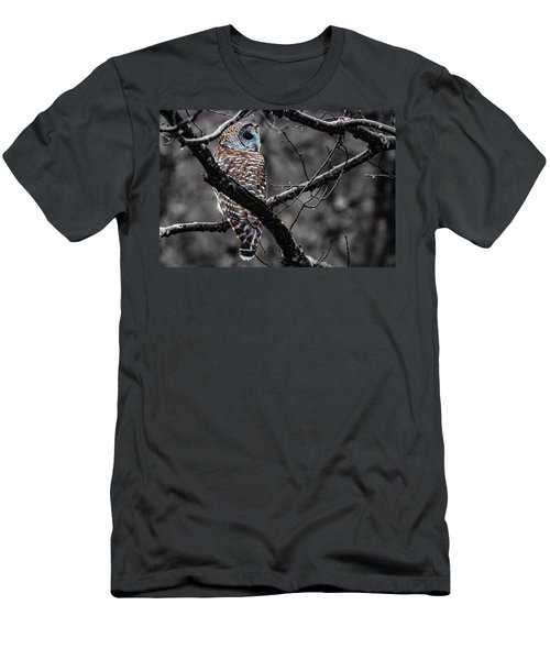 Barred Owl Hungry  Men's T-Shirt (Athletic Fit)