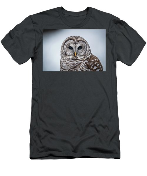 Men's T-Shirt (Slim Fit) featuring the photograph Barred Owl by Paul Freidlund