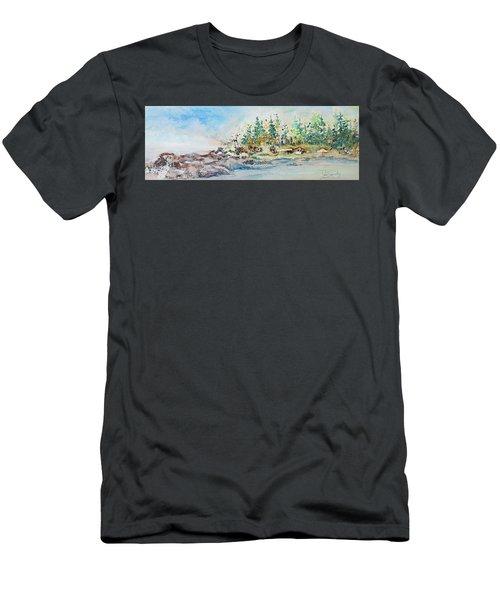 Barrier Bay Men's T-Shirt (Slim Fit) by Joanne Smoley