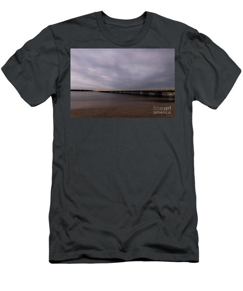 Men's T-Shirt (Athletic Fit) featuring the photograph Barwon Heads Bridge by Linda Lees