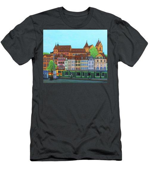 Basel, Barfusserplatz Rendez-vous Men's T-Shirt (Athletic Fit)