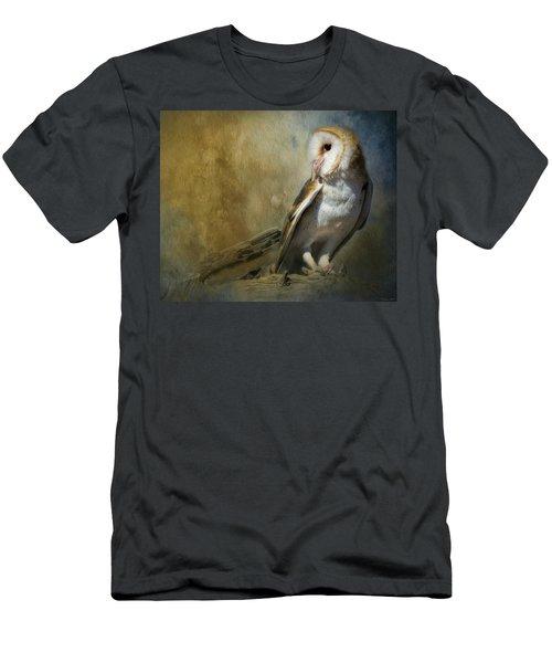 Bashful Barn Owl Men's T-Shirt (Athletic Fit)
