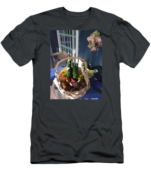Basket Of Veggies And Orchid Men's T-Shirt (Athletic Fit)