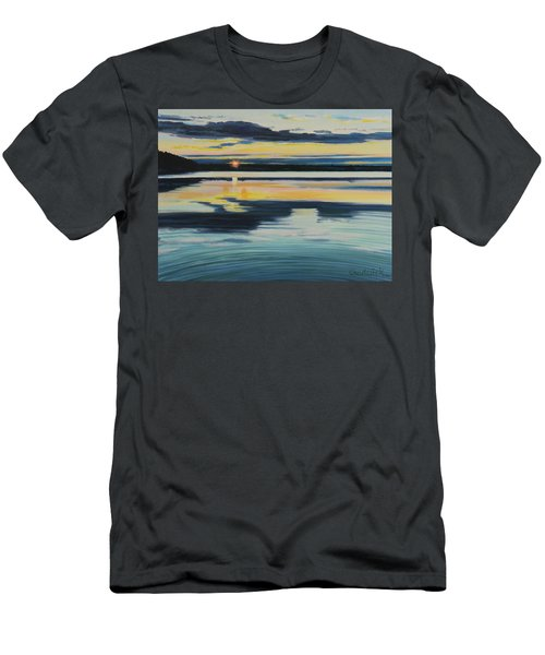 Bass Lake Sunset Men's T-Shirt (Athletic Fit)