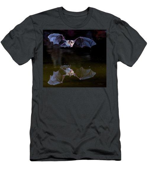 Bat Flying Over Pond Men's T-Shirt (Athletic Fit)