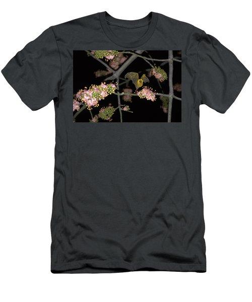 Men's T-Shirt (Slim Fit) featuring the photograph Bat by Jim Walls PhotoArtist