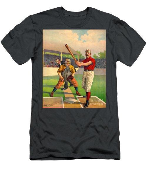 Batter Up 1895 Men's T-Shirt (Slim Fit) by Padre Art