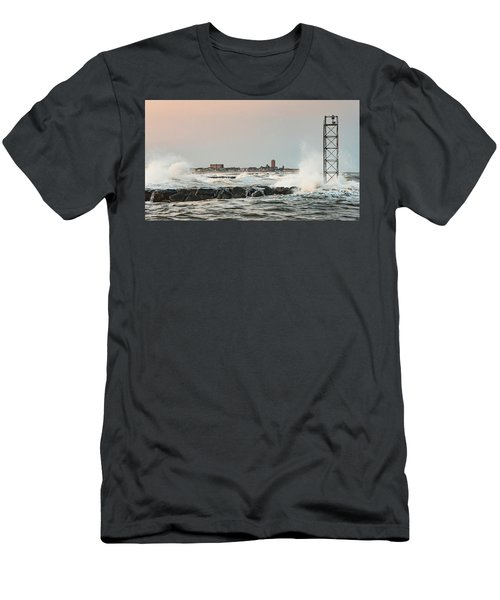 Battering The Shark River Inlet Men's T-Shirt (Athletic Fit)