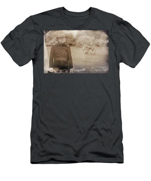 Battery D Men's T-Shirt (Slim Fit) by Randall Cogle