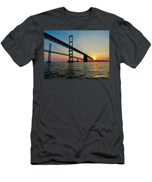 Bay Bridge At Sunset  Men's T-Shirt (Athletic Fit)