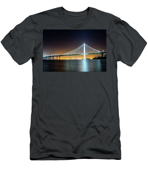 Bay Bridge East By Night 1 Men's T-Shirt (Athletic Fit)