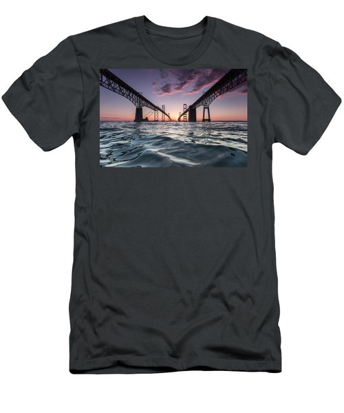 Bay Bridge Twilight Men's T-Shirt (Athletic Fit)