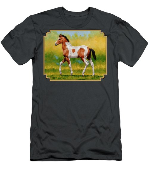 Bay Pinto Foal Men's T-Shirt (Athletic Fit)