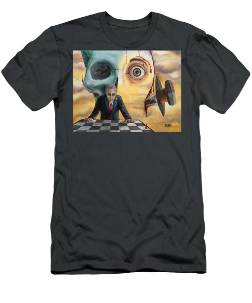 Men's T-Shirt (Athletic Fit) featuring the painting Be Secret And Exult by Break The Silhouette