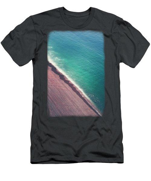 Beach Aerial Men's T-Shirt (Athletic Fit)