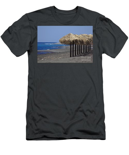 Men's T-Shirt (Athletic Fit) featuring the photograph Beach At Perivolos by Jeremy Hayden