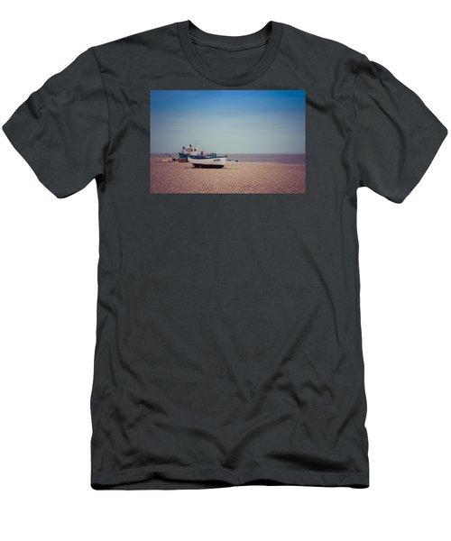 Beach Boats Men's T-Shirt (Slim Fit) by David Warrington
