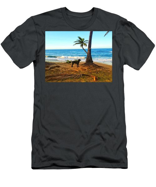Beach Dog  Men's T-Shirt (Athletic Fit)