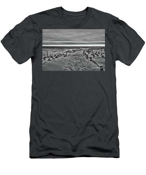 Beach Entry In Black And White Men's T-Shirt (Slim Fit) by Paul Ward