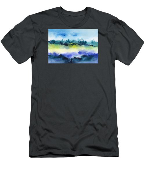 Beach Hut Abstract Men's T-Shirt (Slim Fit) by Frank Bright