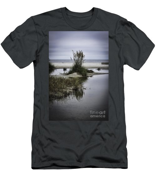 Men's T-Shirt (Slim Fit) featuring the photograph Beach Island by Judy Wolinsky