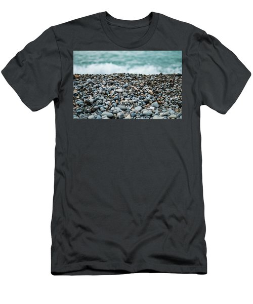 Men's T-Shirt (Slim Fit) featuring the photograph Beach Pebbles by MGL Meiklejohn Graphics Licensing