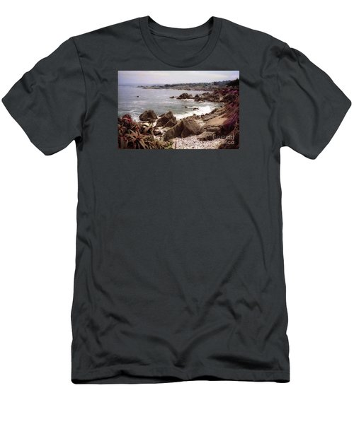 Beach Rock Ocean Waves Men's T-Shirt (Athletic Fit)